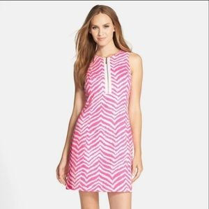 Lilly Pulitzer Penelope Shift Dress Pink Tropical